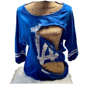 Genuine Merch  Womens Distressed LA  Dodgers shirt
